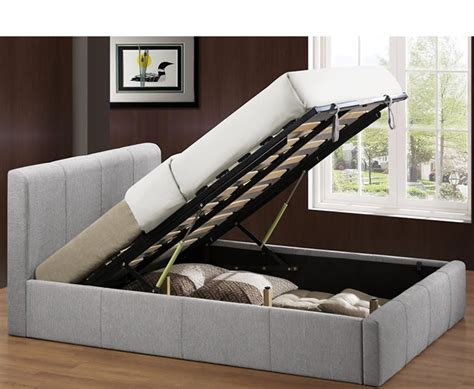 Reynolds Small Double 4ft Grey Upholstered Ottoman Bed 4ft Ottoman Beds Uk