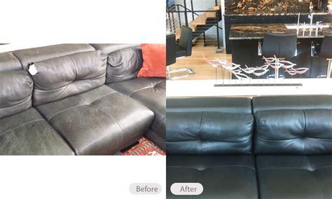 leather sofa faded repair photo dog damaged faded leather sofa fibrenew