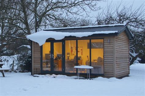 how to make the garden office cosy for winter work