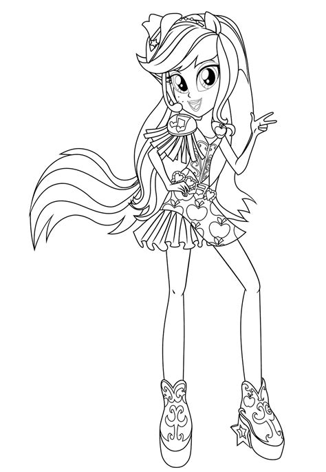 my little pony rainbow rocks coloring pages applejack equestria girls rainbow rocks applejack coloring pages