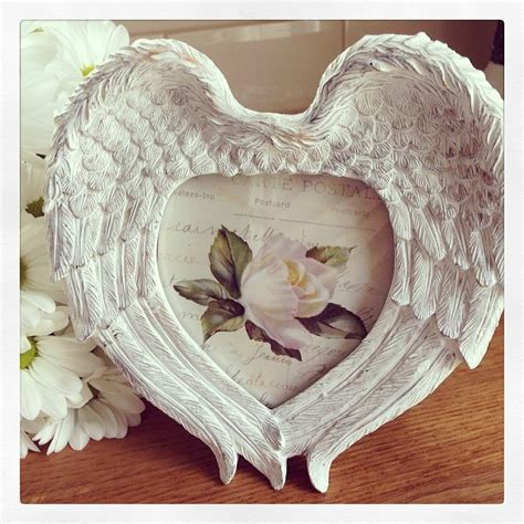 Home Decor Signs And Plaques Angel Wings Whitewash Photo Frame
