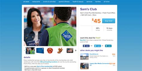 Sam S Club Iphone Gift Card Deal - sam s club one year membership 20 gift card free food vouchers 45 shipped