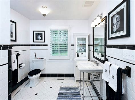 white black bathroom ideas black and white tile bathroom decorating ideas pictures