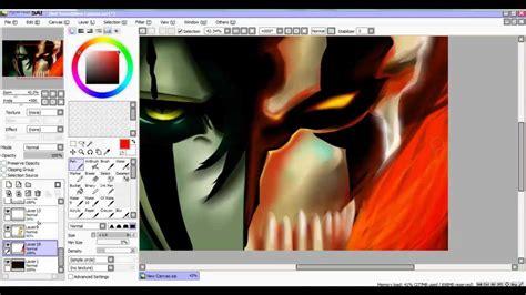 paint tool sai photoshop cs3 ichigo vs ulquiorra speed paint