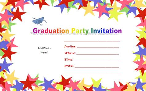 Sle Invitation Template Best Template Collection Free Printable Preschool Graduation Invitation Templates