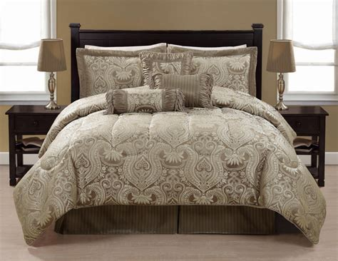 taupe bedding sets 7pcs queen taupe astoria bedding comforter set ebay