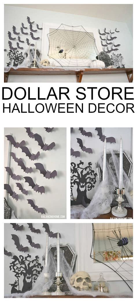 dollar store home decor halloween mantle balancing home with megan bray