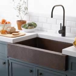 33 quot paragon single basin copper apron front farmhouse kitchen sink