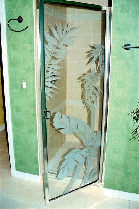 Etched Glass Shower Door Designs Showers Etched Shower Glass Etched Glass Etched Glass Design By Premier Etched Glass