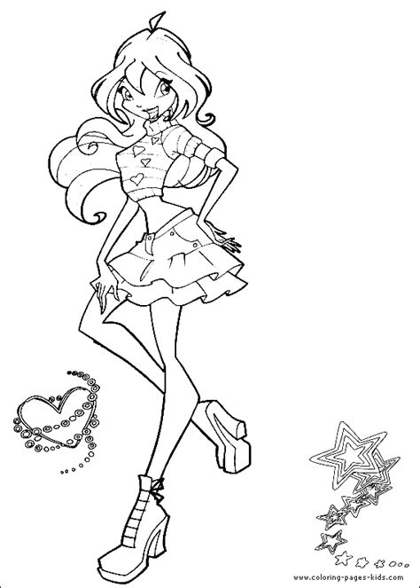 winx coloring pages winx club coloring pages free printable pictures