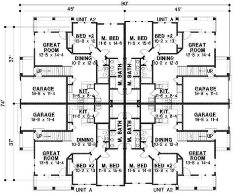multi family home plans duplex multi family home plans