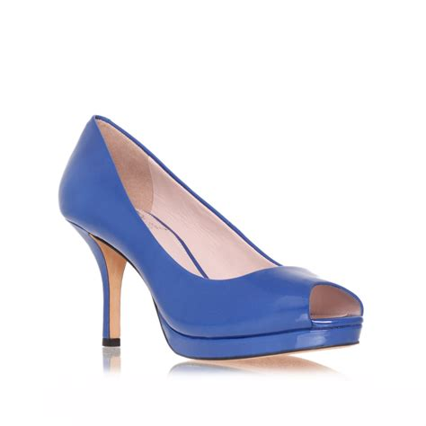 vince camuto blue shoes vince camuto kendall peep toe shoes in blue lyst