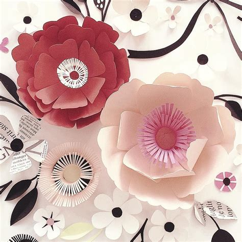 Beautiful Paper Crafts - nyman s paper blooms create pleasing compositions