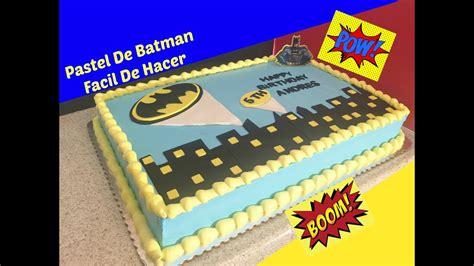 como decorar un pastel infantil paso a paso c 243 mo decorar un pastel de batman f 225 cil youtube