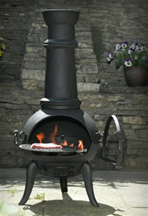 cooking on a chimenea garden4less uk garden retailer