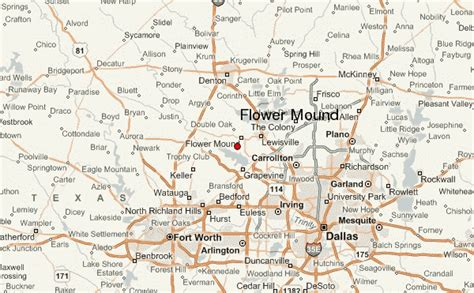 map of flower mound texas flower mound location guide