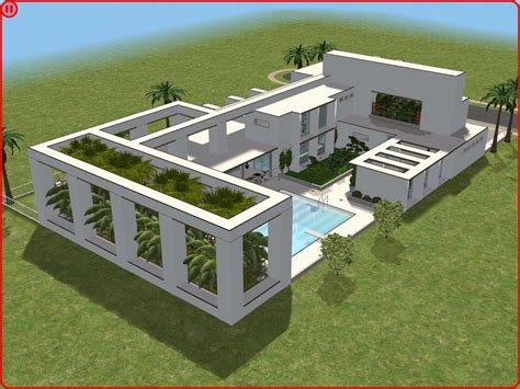 sims 2 house designs floor plans sims 2 modern minimalist style house by ramborocky on