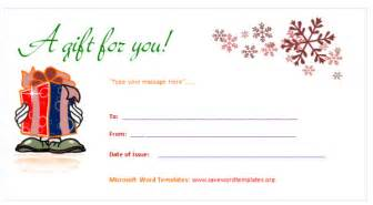 gift card template word gift certificate template save word templates
