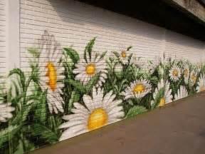Backyard Mural Ideas Decorative Painted Garden Wall Murals
