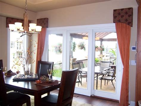 Window Treatments For Bay Windows In Dining Rooms window covering for patio door patio door coverings