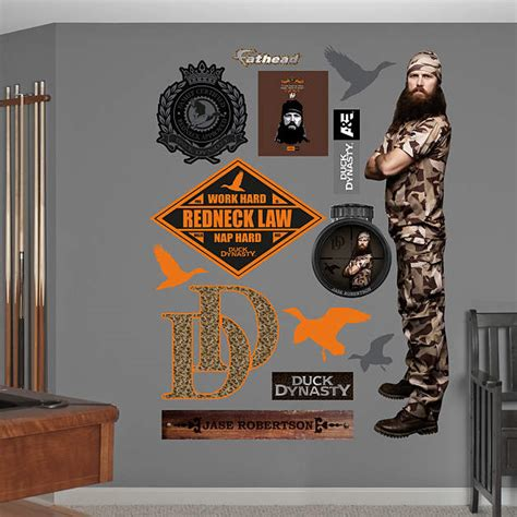duck dynasty home decor life size jase robertson wall decal shop fathead 174 for duck dynasty decor