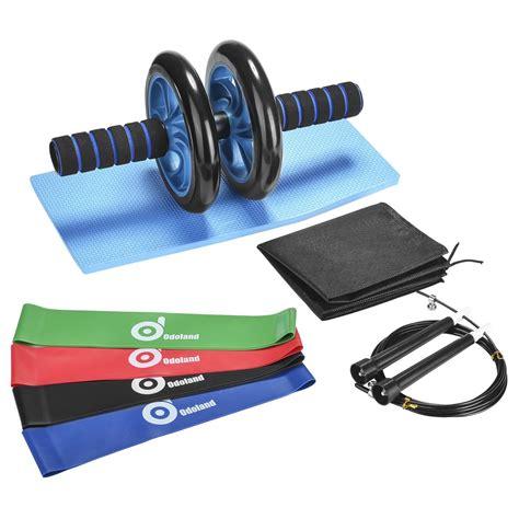ab wheel roller kit odoland ab roller pro  resistant bandknee padanti slip