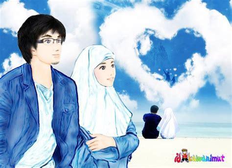 wallpaper bergerak couple gambar kartun islami indonesiadalamtulisan terbaru 2014