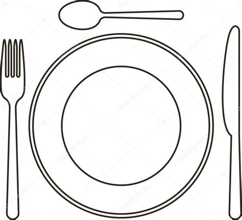 place setting template plate outline images reverse search