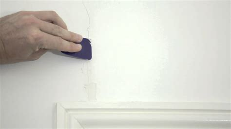 Paint Color Ideas For Bathroom by Filling Small Hairline In Wall Youtube
