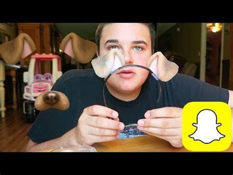 snapchat dog face filter youtube