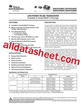 datasheet transistor mdl 3088 sn65hvd3088edrg4 datasheet pdf instruments