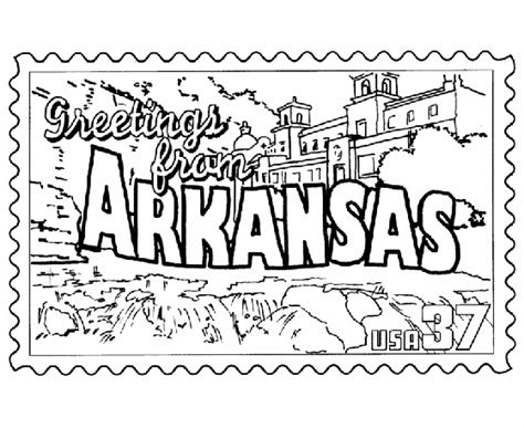 usa printables arkansas state st us states coloring