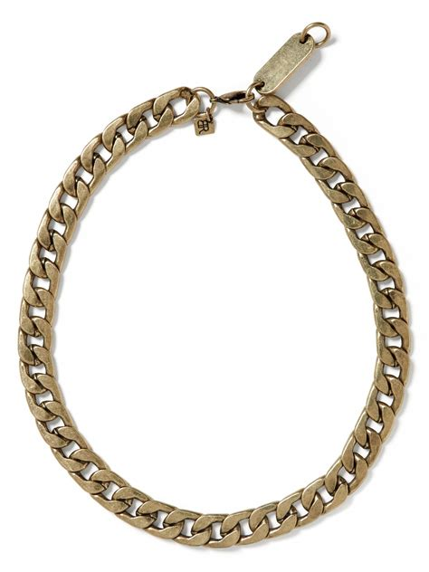 brass chain for jewelry banana republic curb chain necklace in gold brass lyst