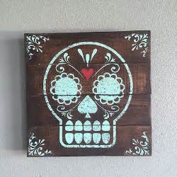 Day Of The Dead Home Decor by Wood Pallet Day Of The Dead Wall Art Home Decor Dia De Los