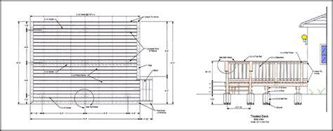 Wood Deck Design Drawings