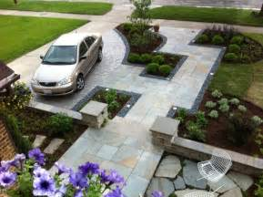 Front Yard Patio Design Front Yard Driveway And Walkway Landscaping House Design With Floor Tiles And Low