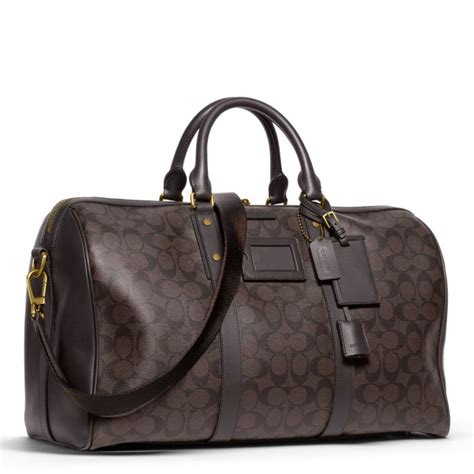 Mandy And Coach Bleeker Duffle by Lyst Coach Bleecker Monogram Duffle In Signature Coated