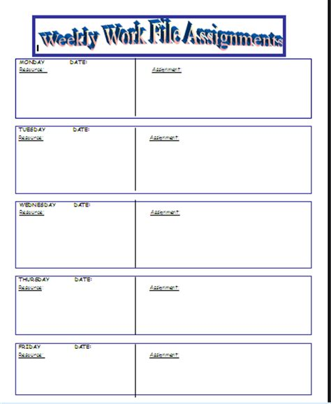 weekly homework template printable homework sheets cake ideas and designs
