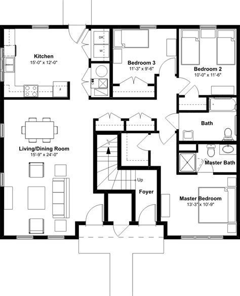 3 bedroom unit floor plans 3 bedroom 2 bath townhome emerson square