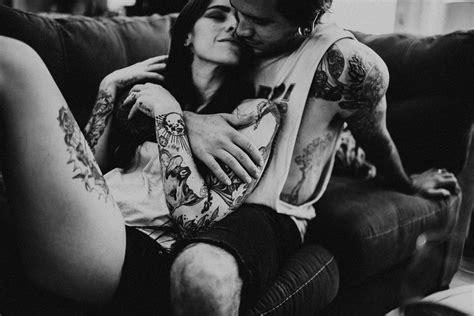 tattoo couples photography tattooed in home couples boudoir session atlanta ga