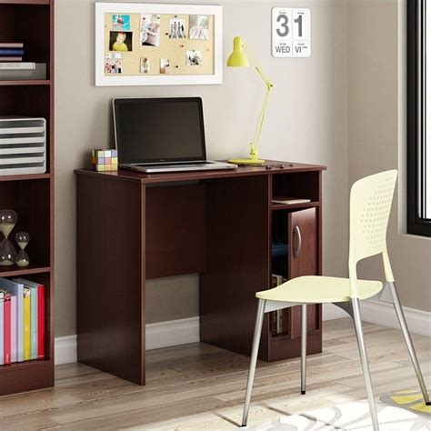 south shore furniture axess small desk royal cherry south shore axess small desk in royal cherry 7246075
