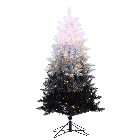 sterling 5 ft pre lit black ombre spruce artificial