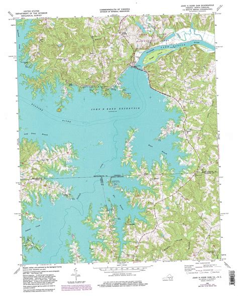 map louisiana dams h kerr dam topographic map va nc usgs topo