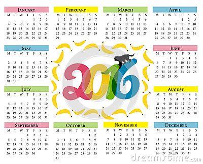 Calendario Chino 2016 Rata Calendrier De Singe Calendrier Pour 2016 Avec Un Symbole