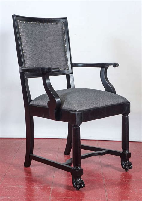 Ebonized Arts And Crafts Style Dining Chairs For Sale At Craftsman Style Dining Chairs
