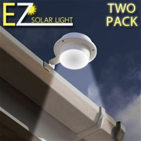 Solar Lights For Signs Outdoor Ez Solar Light Two Pack Set Home Gutter Led Light Multi Use Gutters Signs