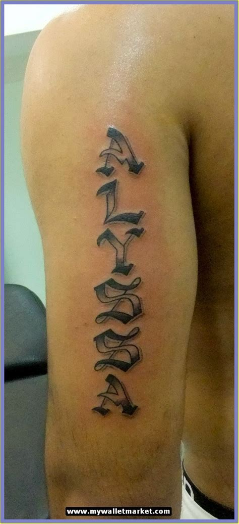 arm tattoo designs with names awesome tattoos designs ideas for and alyssa