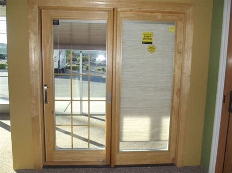 Patio Doors With Blinds Inside Glass Sliding Patio Doors With Blinds Between The Glass