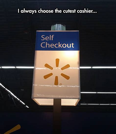 Self Checkout Meme - the cutest cashier the meta picture