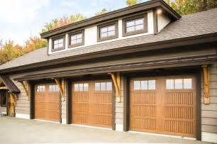 Exterior Garage Door Faux Wood Fiberglass Exterior Garage Doors Craftsman